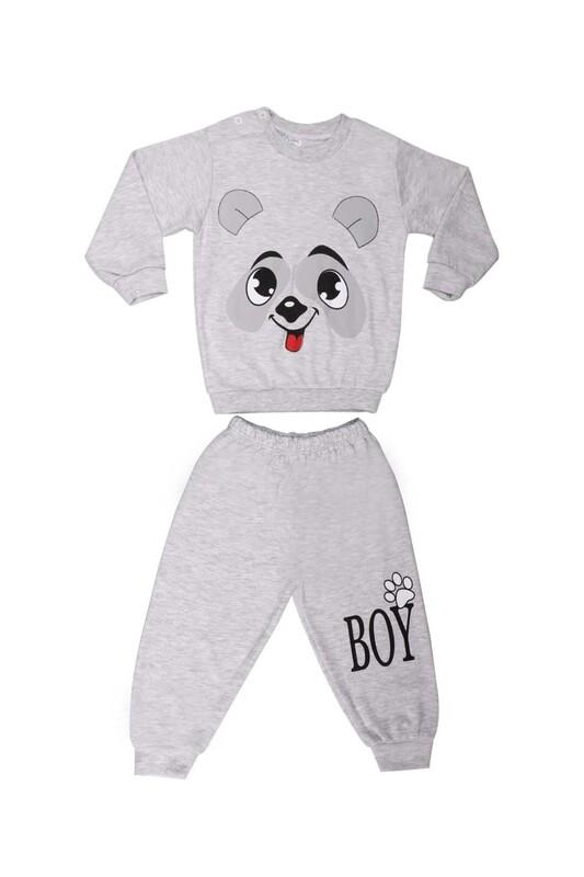 BİLKON - Bilkon Baby Köpek Baskılı Bebek Takımı 2808 | Gri