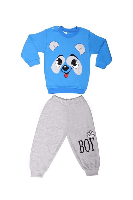 BİLKON - Bilkon Baby Köpek Baskılı Bebek Takımı 2808 | Mavi