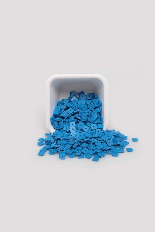 SİMİSSO - Kare Hamur Fimo Boncuk | Mavi