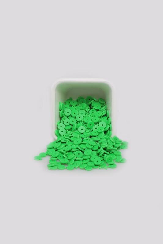 SİMİSSO - Yuvarlak Hamur Fimo Boncuk 6 mm | Neon Yeşil