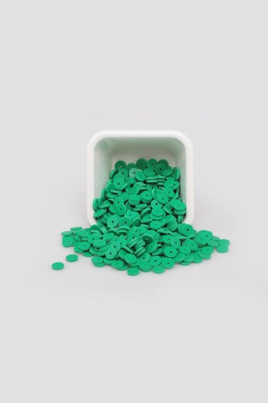 SİMİSSO - Yuvarlak Hamur Fimo Boncuk 6 mm | Yeşil