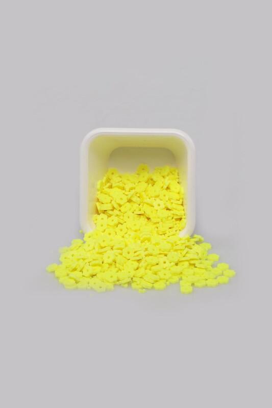 SİMİSSO - Çiçek Hamur Fimo Boncuk 4 mm | Neon Sarı