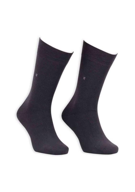 Bordo - Bordo Bambu Dikişsiz Erkek Çorap EBK1003 | Füme