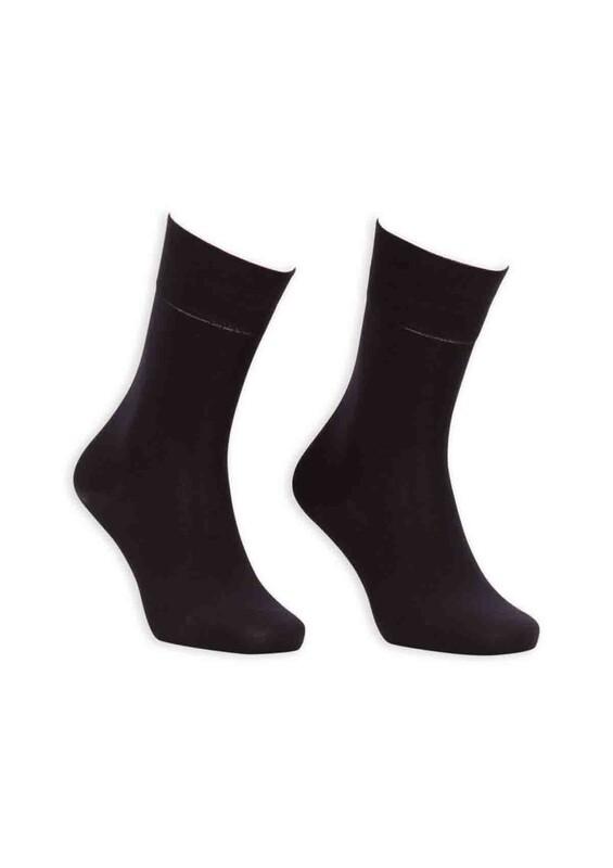 Bordo - Bordo Bambu Dikişsiz Erkek Çorap GBK1001 | Siyah