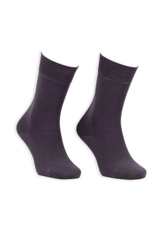 Bordo - Bordo Bambu Dikişsiz Erkek Çorap GBK1003 | Füme
