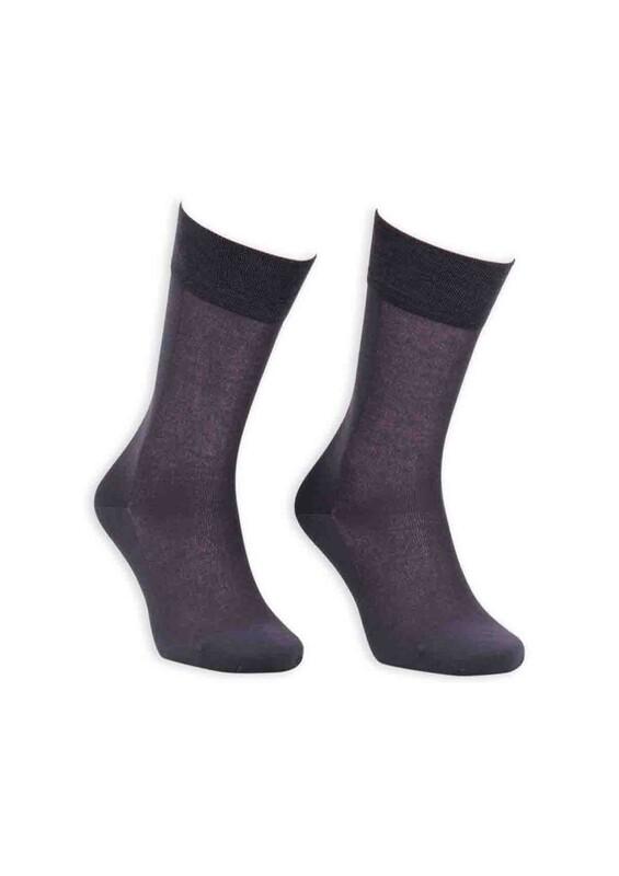 Bordo - Bordo Cotton Dikişsiz Erkek Çorap SM31007-03 | Füme