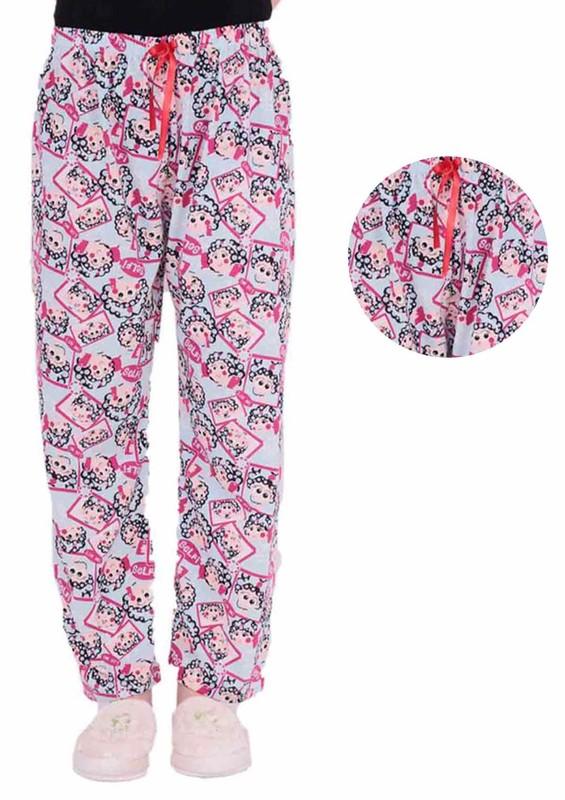 MODASEN - Boru Paçalı Çizgi Karakter Desenli Pijama Altı 553 | Mavi