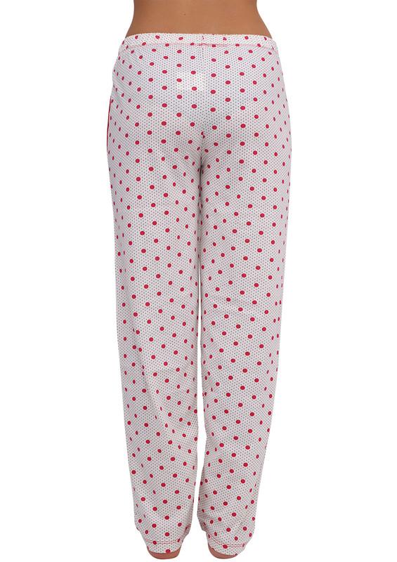 ARCAN - Boru Paçalı Puantiyeli Pijama Altı Renk Seçenekleri İle 034   Pembe