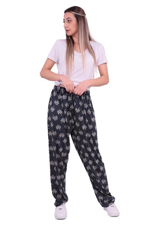STAR CITY - Büyük Beden Bol Paça Pantolon | Lacivert