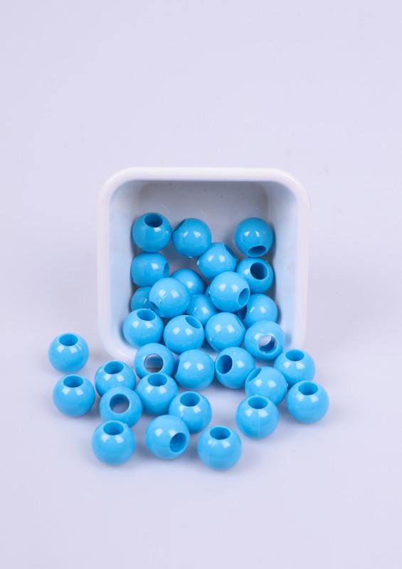 SİMİSSO - Büyük Boy Makrome Boncuk Mavi