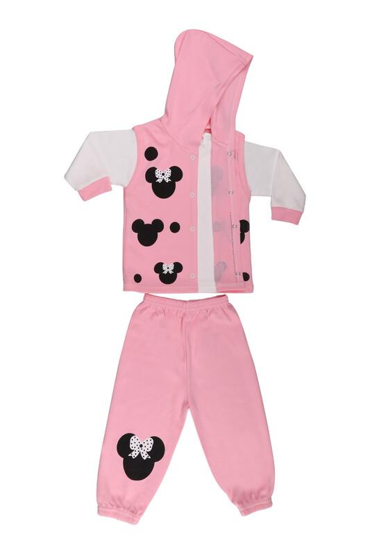 Çağkon - Çağkon Kız Bebek 3'lü Takım 802 | Pembe