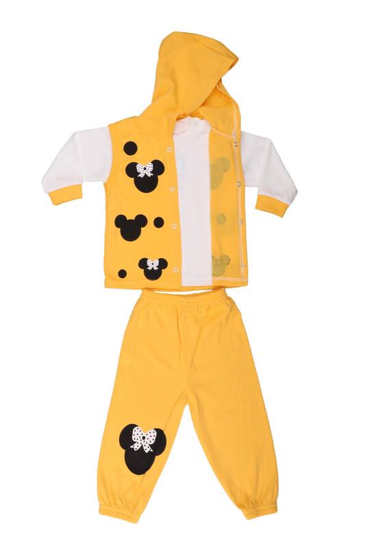 Çağkon - Çağkon Kız Bebek 3'lü Takım 802 | Sarı