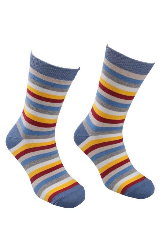 CALZE VİTA - Calze Vita Ebruli Çorap | İndigo