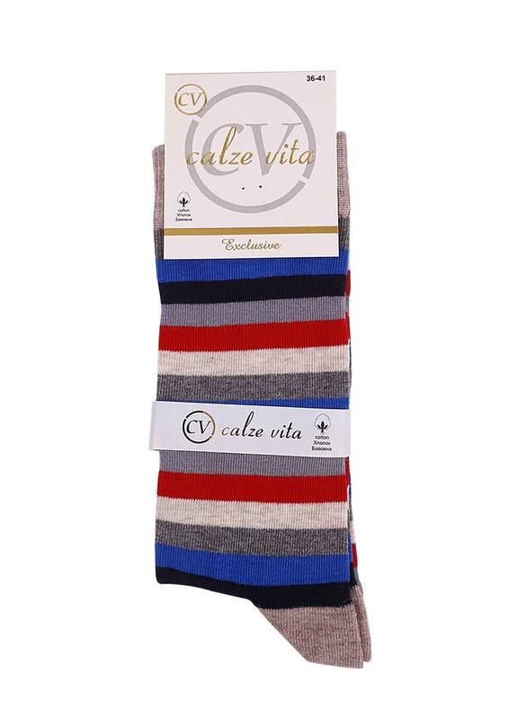 CALZE VİTA - Calze Vita Ebruli Çorap | Kahverengi