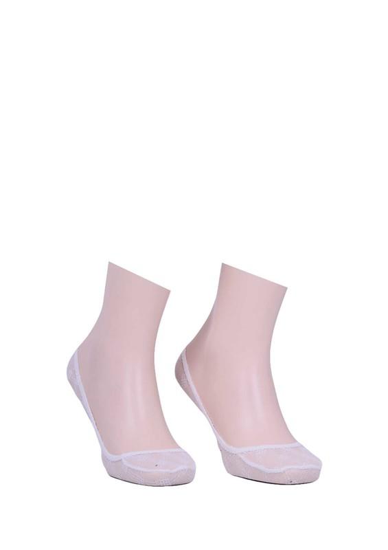 CALZE VİTA - Calze Vita Dantelli Babet Çorap 335   Beyaz