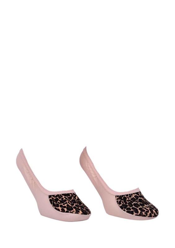 CALZE VİTA - Calze Vita Leoparlı Babet Çorap 339   Bej