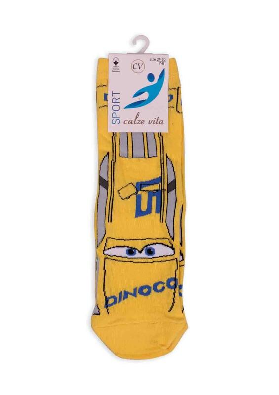 CALZE VİTA - Calze Vita Sport Erkek Çocuk Çorap | Sarı