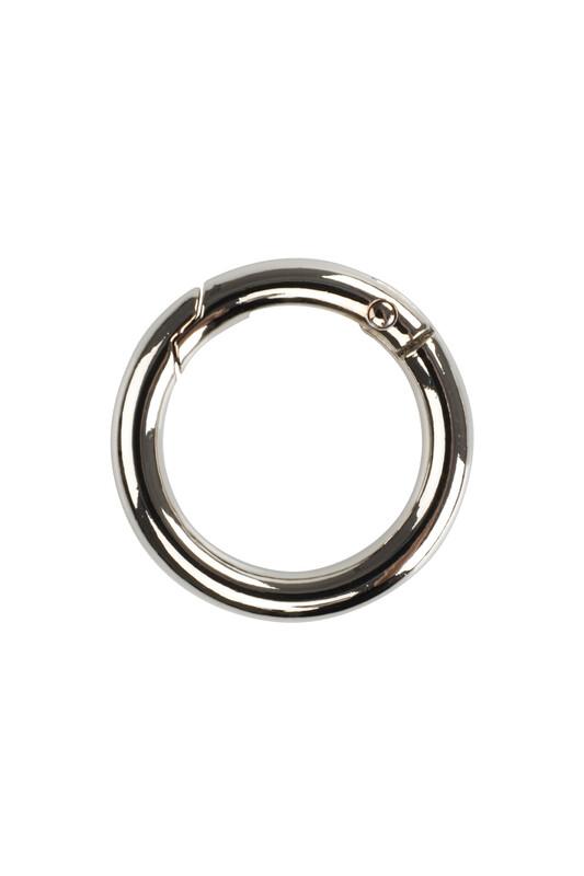 MİR PLASTİK - Metal Yaylı Halka 2,5 Cm | Gümüş