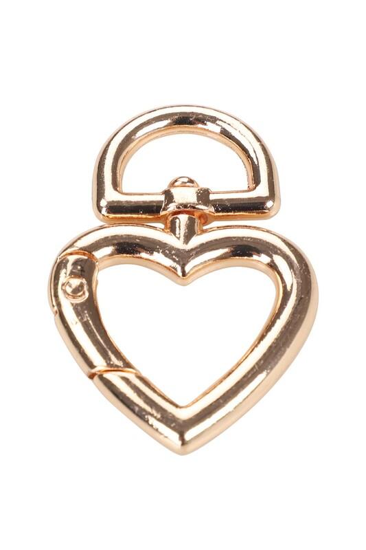 MİR PLASTİK - Çanta Klipsi Kalp 4,5 cm | Altın