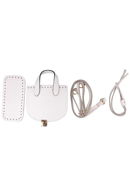 SİMİSSO - Yılan Derisi Sırt Çanta Takımı 5 Parça | Beyaz