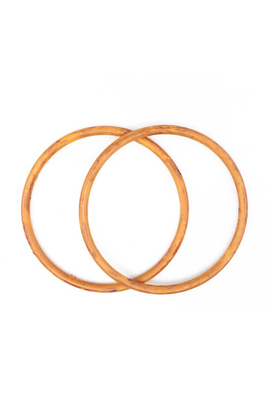 SİMİSSO - Ahşap Görünümlü Plastik Çanta Sapı Model 4 | Kahverengi