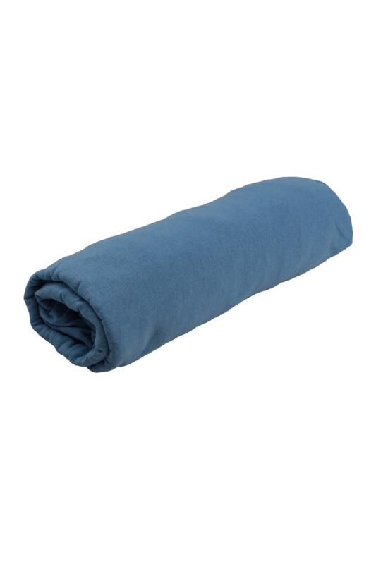 SİMİSSO - Penye Lastikli Çarşaf Battal Boy 200 x 200 cm | Mavi