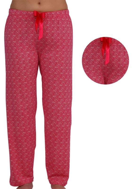 DOGİ - Çiçek Desenli Bol Paçalı Pijama Altı 002 | Pembe