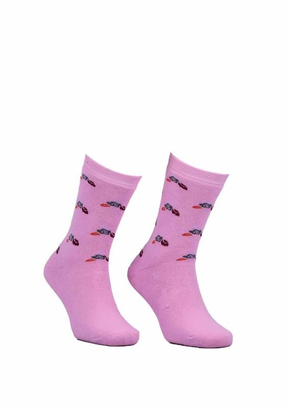 Modemo - Çiçekli Havlu Çorap 2050   Pembe