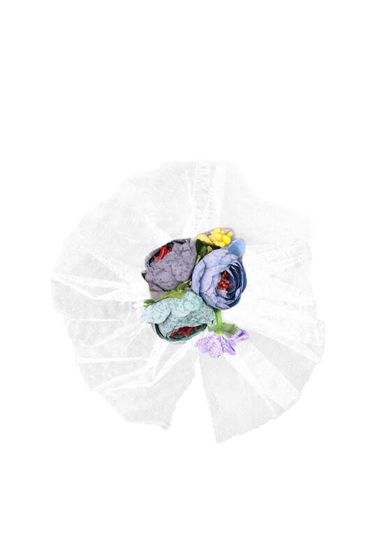 SİMİSSO - Çiçekli Bohça Süsü | Beyaz