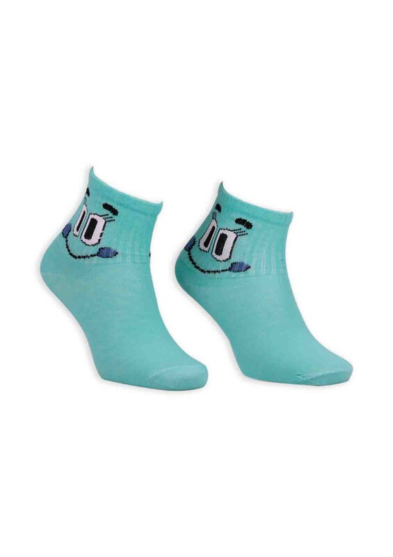 SİMİSSO - Çizgi Film Karakterli Bilek Çorap | Yeşil