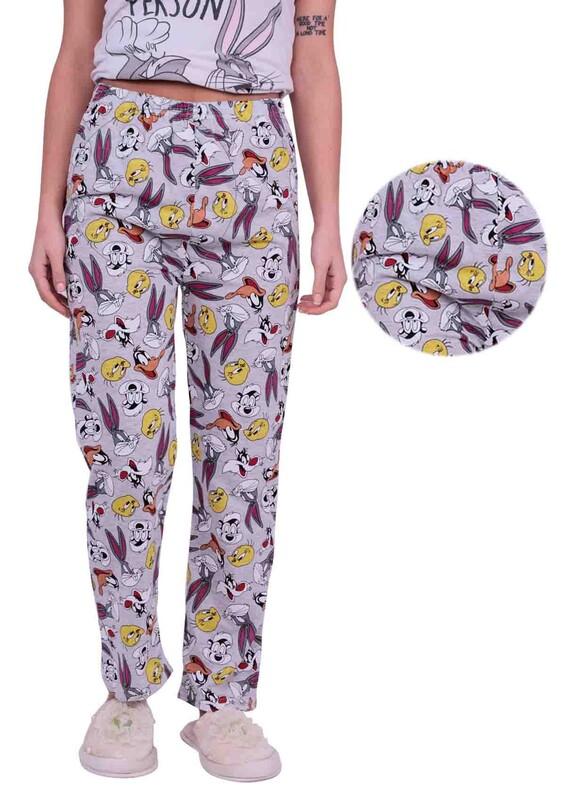 SİMİSSO - Çizgi Film Karakterli Kadın Pijama Altı 005 | Gri