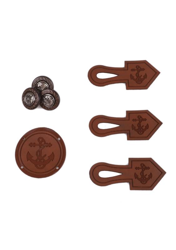 SEVİNÇ - Çizmeli Düğme 355 | Kahverengi