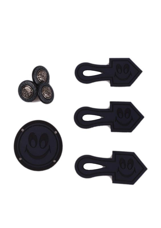 ÇİZMELİ - Çizmeli Yelek Düğmesi 400   Siyah