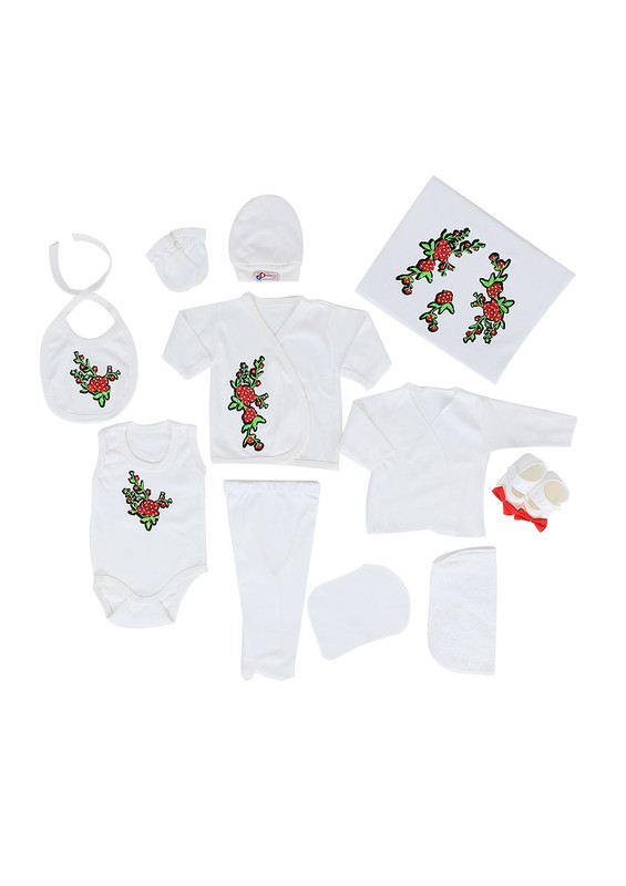 CONCON BABY - Concon Baby Zıbın Seti 677 | Beyaz