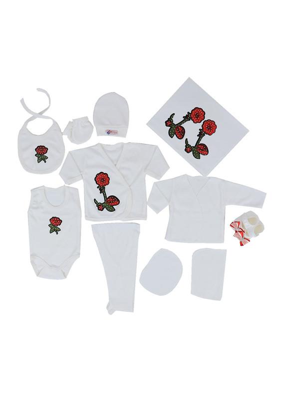 CONCON BABY - Concon Baby Zıbın Seti 678 | Beyaz