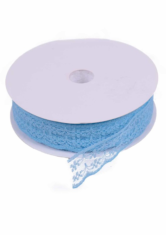 SİMİSSO - Dantel Şerit 10 mm 10 Metre | Mavi
