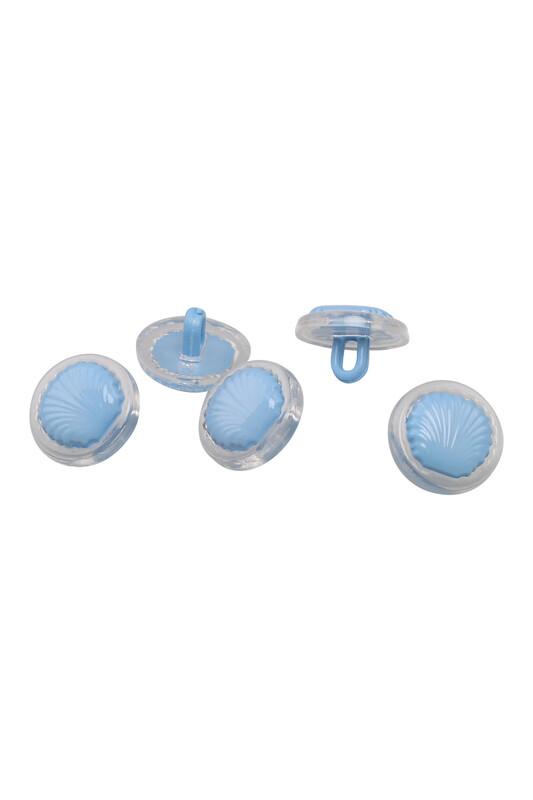 SİMİSSO - Deniz Kabuğu Figürlü Düğme 5 Adet