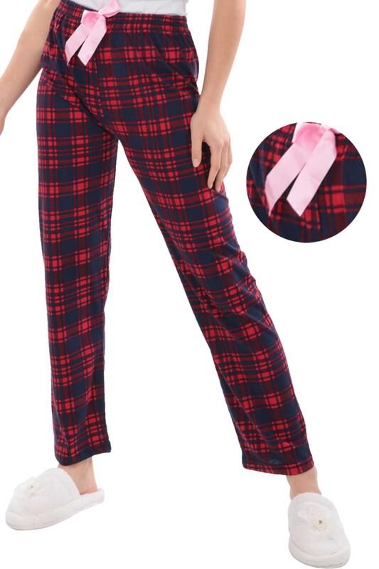 RİNDA - Desenli Kadın Pijama Altı 1414 | Lacivert