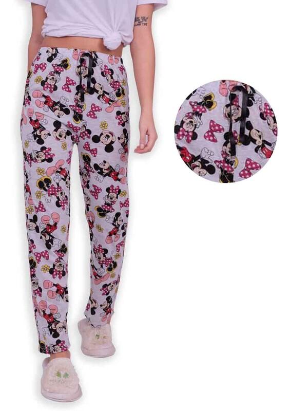 SİMİSSO - Desenli Kadın Pijama Altı | Gri