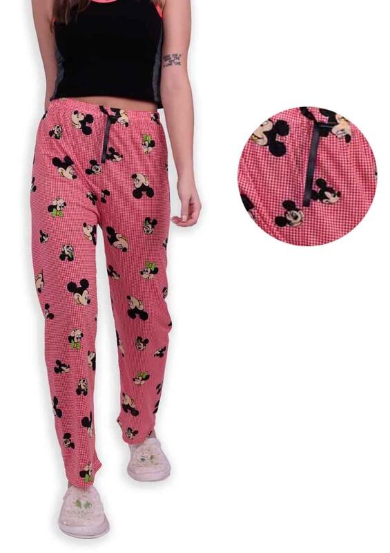 SİMİSSO - Desenli Kadın Pijama Altı | Kırmızı