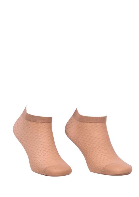 DESİMO - Desimo Desenli Ten Soket Çorap 341   Ten