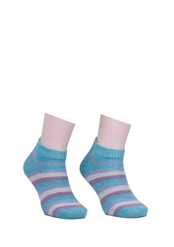 DİBA - Diba Desenli Yün Çorap 213 | Yeşil