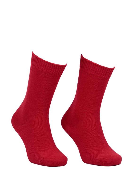 DİBA - Diba Dikişsiz Yün Çorap 214 | Kırmızı