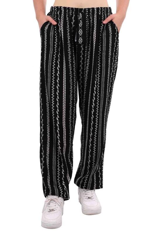 DOĞAN - Doğan Desenli Battal Süet Pantolon 21640 | Siyah
