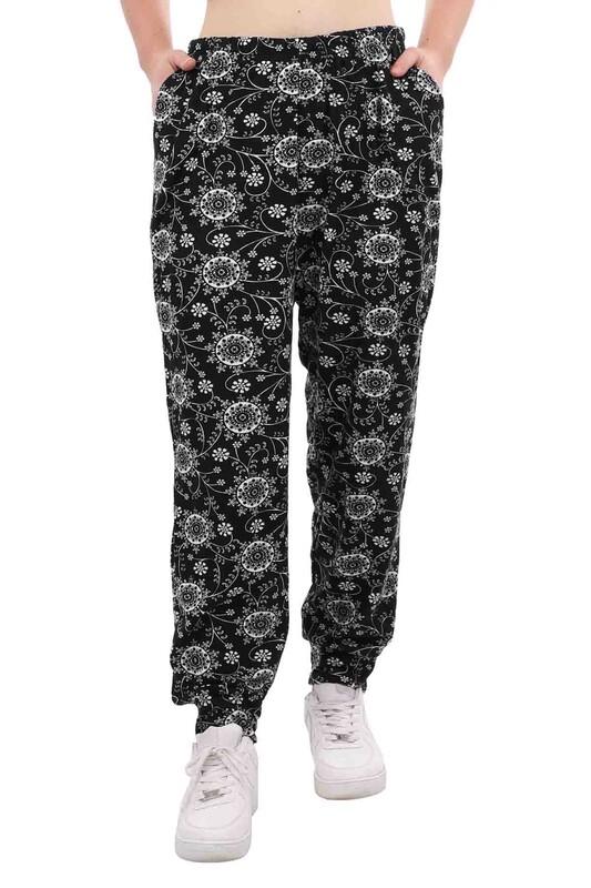 DOĞAN - Doğan Desenli Battal Süet Pantolon 21645 | Siyah