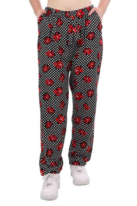 DOĞAN - Doğan Desenli Battal Süet Pantolon 21648 | Kırmızı