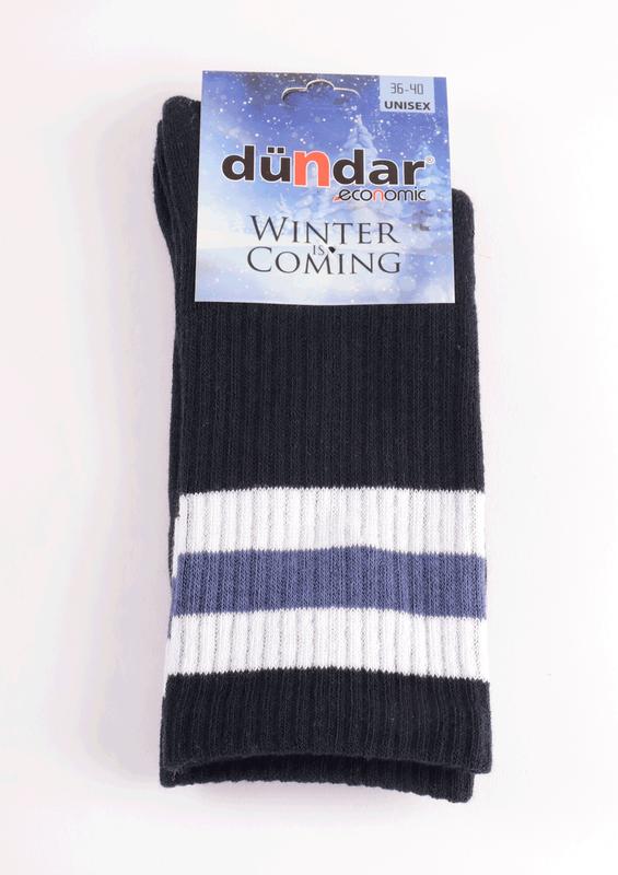 DÜNDAR - Dündar Desenli Havlu Çorap 8504 | Lacivert