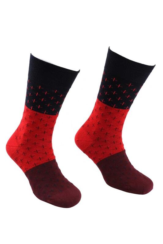 DÜNDAR - Dündar Dikişsiz Çorap 5503 | Kırmızı
