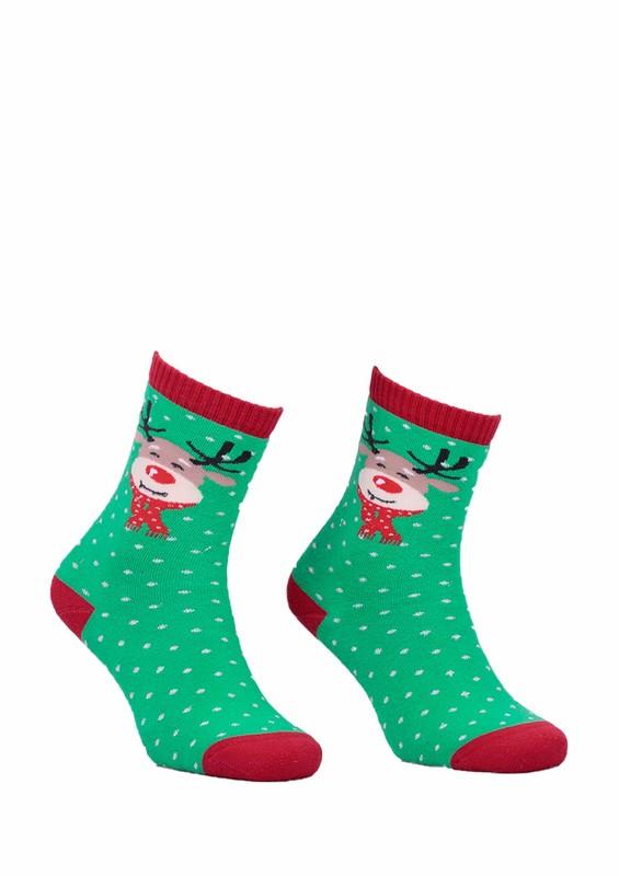 DÜNDAR - Dündar Dikişsiz Geyikli Parfümlü Çorap 010 | Yeşil