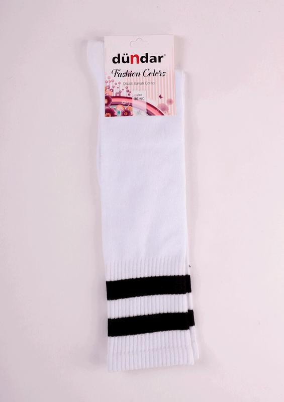 DÜNDAR - Dündar Dizaltı Çorap 3004 | Beyaz